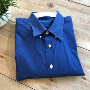 Other - Mens Dress Shirt   Royal Blue with Flowers